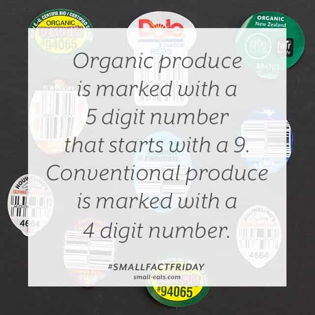 Small Fact Friday: Produce Labels from small-eats.com