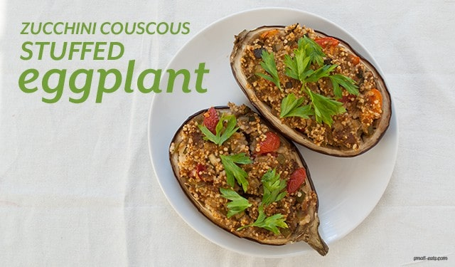 Zucchini Couscous Stuffed Eggplant from small-eats.com