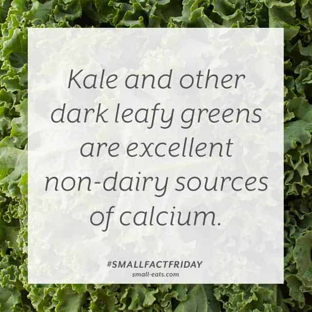 Small Fact Friday: Kale and Calcium from small-eats.com