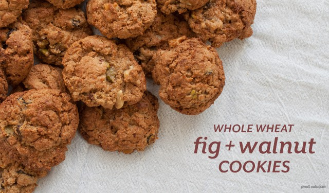 Whole Wheat Fig and Walnuts Cookies from small-eats.com