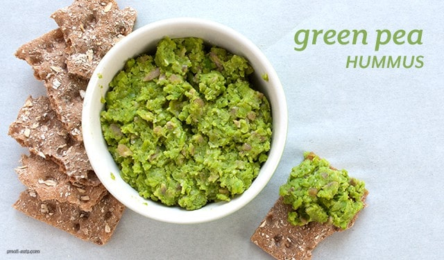 Add some plant-based power to your snacking with Green Pea Hummus.