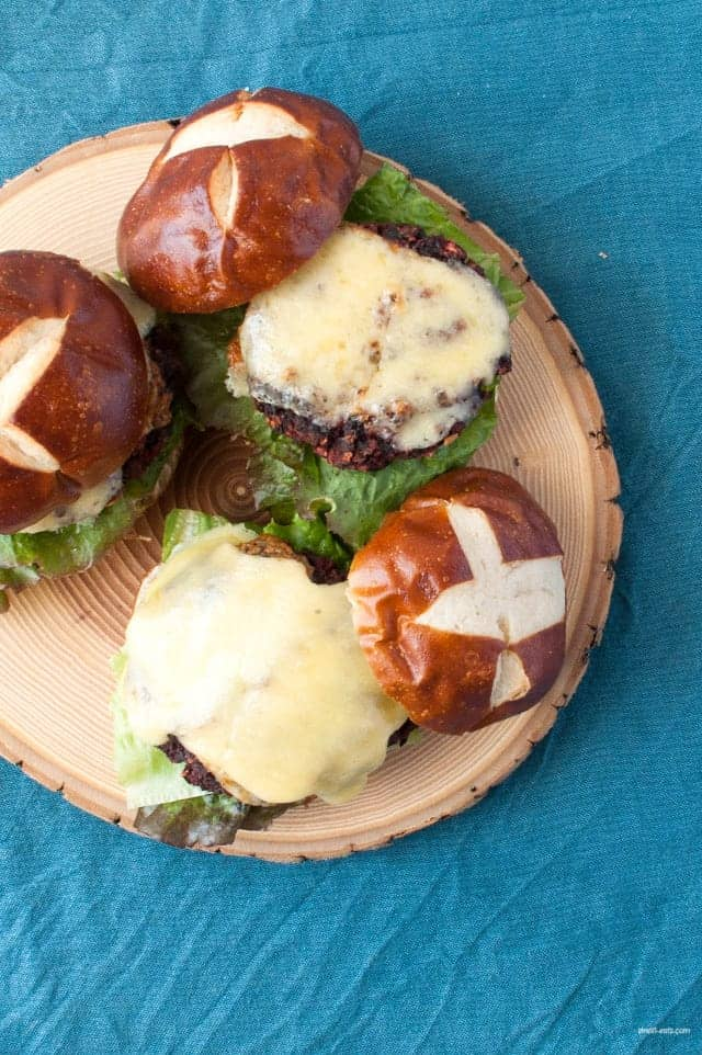 A baked vegetarian slider perfect for entertaining and eating healthy.