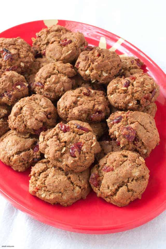 A wholesome and hearty oatmeal cookie with a touch of sweetness from dried cranberries.