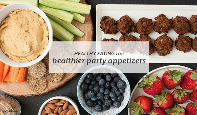 Cook and eat healthy at your next party with healthy appetizers. | Healthy Eating 101: Healthier Party Appetizers from small-eats.com