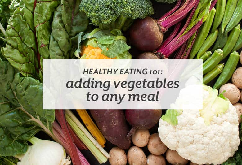 Add more vegetables to your meals easily and boost your nutrient intake.  | Healthy Eating 101: Adding Vegetables to Any Meal from small-eats.com