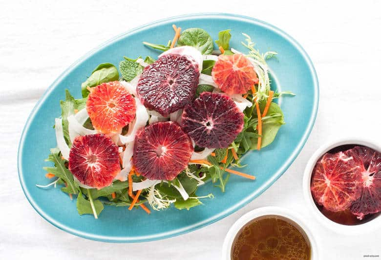 A winter salad to bright any gloomy day with blood oranges, carrots, and pickled fennel. | Blood Orange and Pickled Fennel Salad from small-eats.com