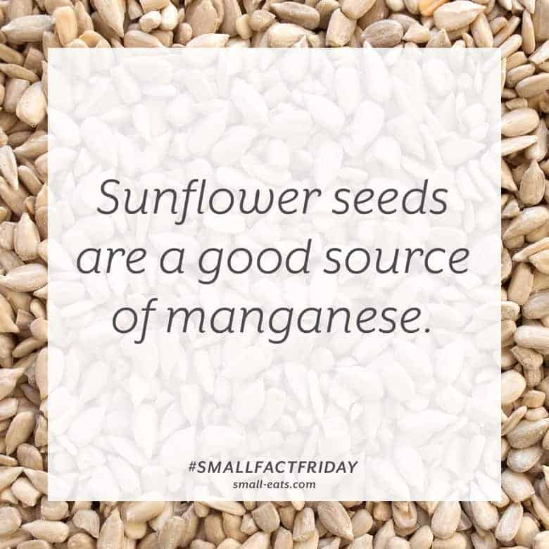 Sunflower seeds are a good source of manganese. #smallfactfriday