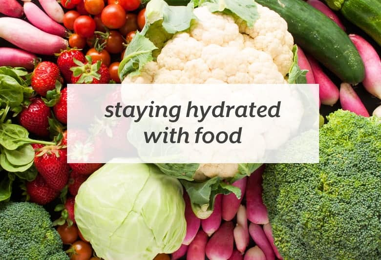 Eat these foods in addition to the water you're drinking to stay hydrated this summer. | Staying Hydrated with Food from small-eats.com