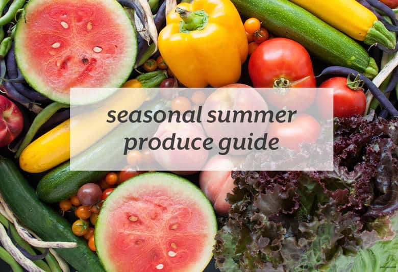 Load up on the best fruits and veggies of the summer. | Seasonal Summer Produce Guide from small-eats.com