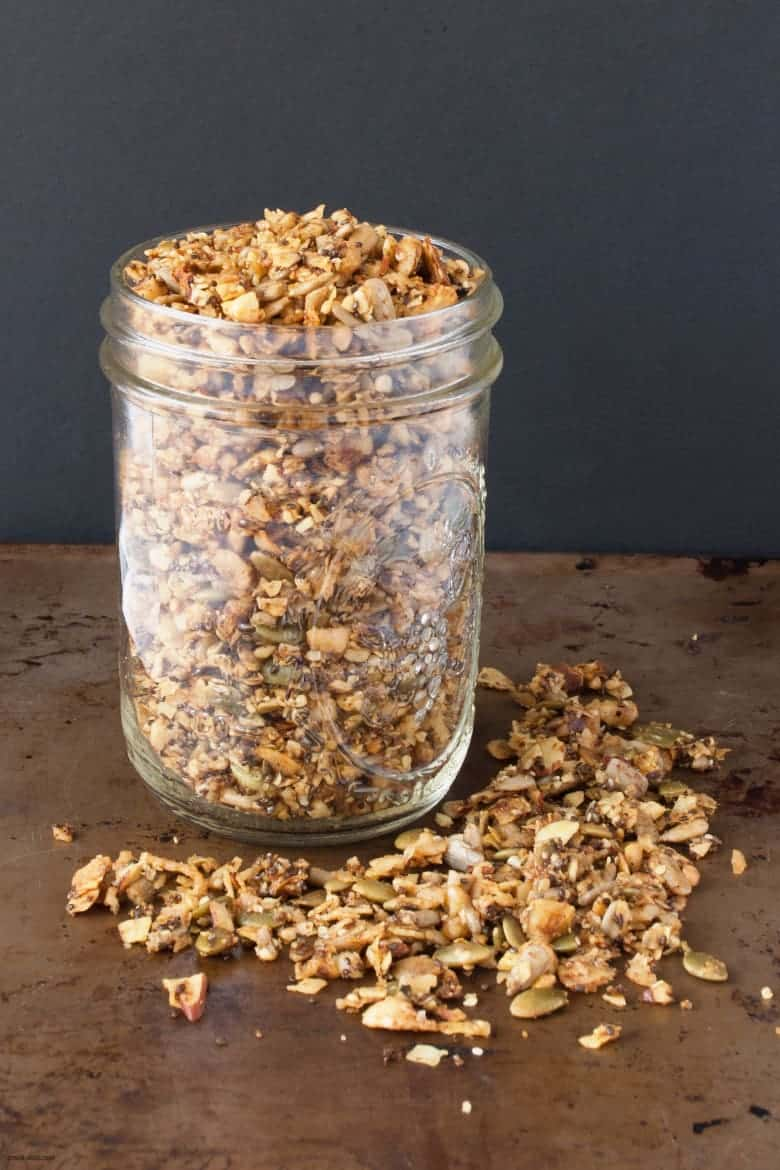 Ditch the grains and enjoy a grain-free and gluten-free granola. | Grain-free Granola from small-eats.com