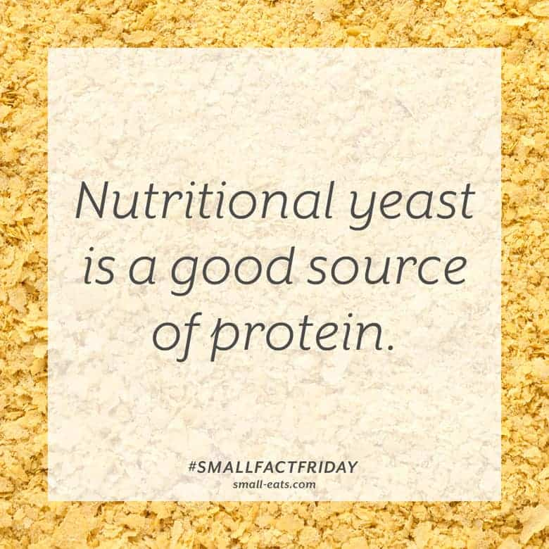 Nutritional yeast is a good source of protein. #smallfactfriday