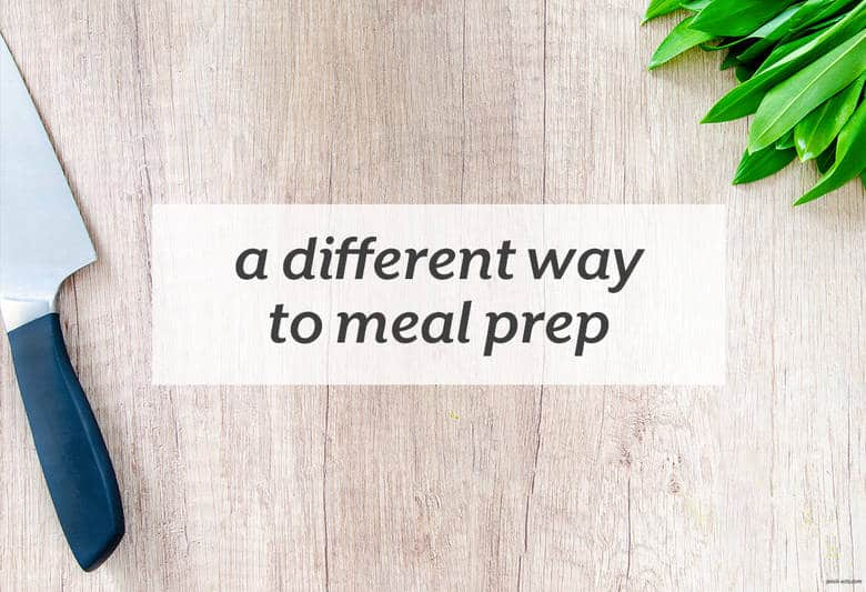 Make meal prep you own with a new approach to weekly meal prep. | A Different Way to Meal Prep from small-eats.com