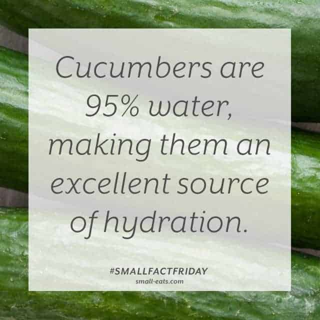Small Fact Friday: Cucumber and Hydration from small-eats.com