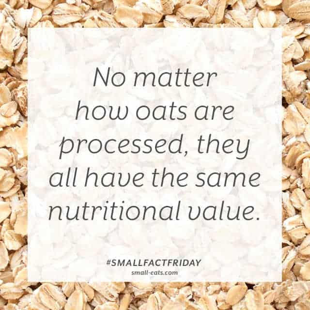 Small Fact Friday: Oats
