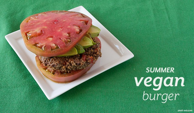 Summer Vegan Burger from small-eats.com