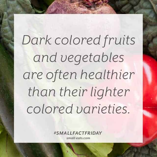 Small Fact Friday: Colors and Health from small-eats.com