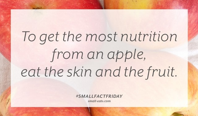 Small Fact Friday: Apples from small-eats.com