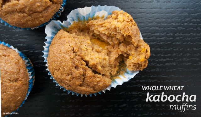 Whole Wheat Kabocha Squash Muffins from small-eats.com