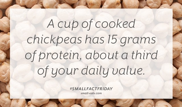 Small Fact Friday: Chickpeas and Protein from small-eats.com