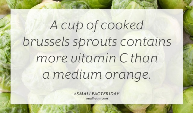 Small Fact Friday: Brussels Sprouts and Vitamin C from small-eats.com