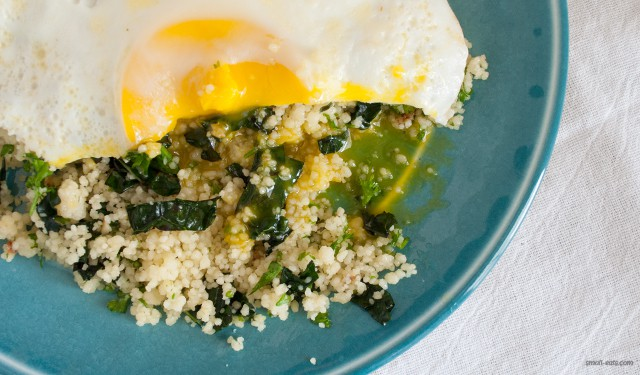 Kale & Herb Breakfast Couscous from small-eats.com