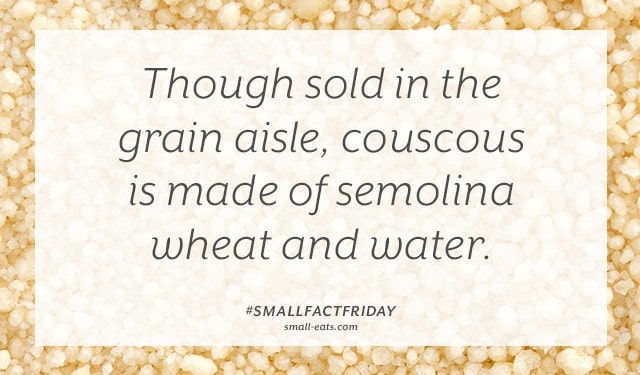 Small Fact Friday: Couscous from small-eats.com