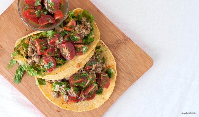 Almond Lentil Meat Soft Tacos from small-eats.com