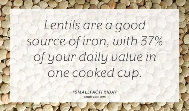 Small Fact Friday: Lentils and Iron from small-eats.com