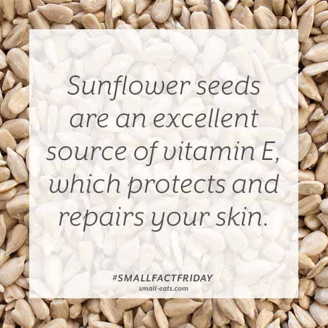 Small Fact Friday: Sunflower Seeds and Skin from small-eats.com