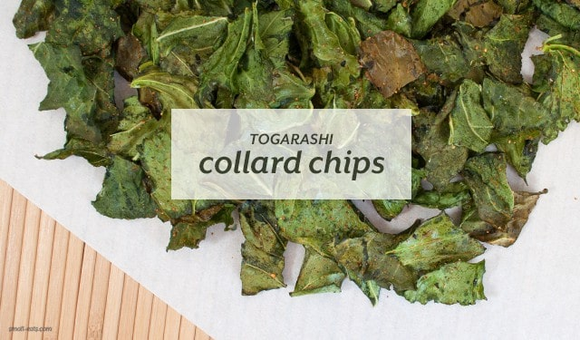 Togarashi Collard Chips from small-eats.com