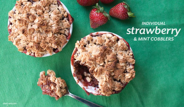 Individual Strawberry and Mint Cobblers from small-eats.com
