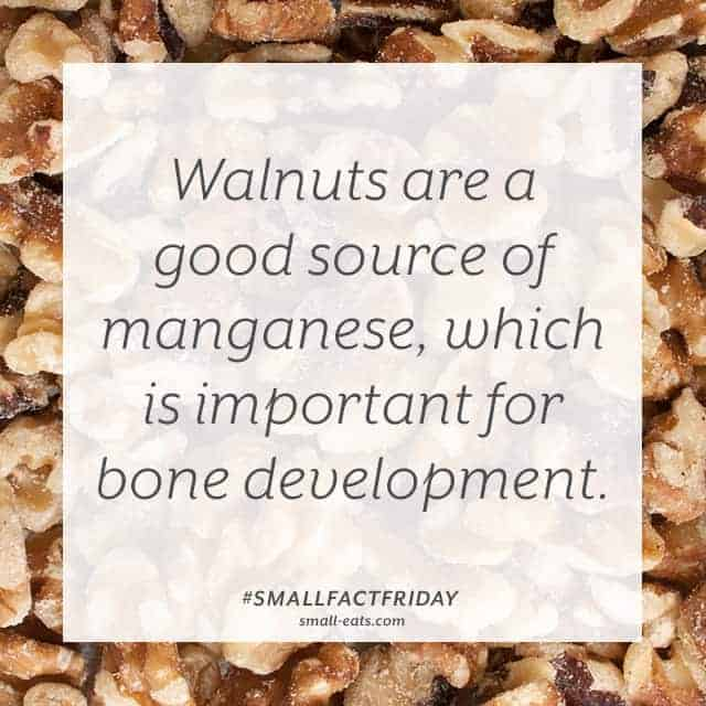 Walnuts are a good source of manganese, which is important for bone development. #smallfactfriday