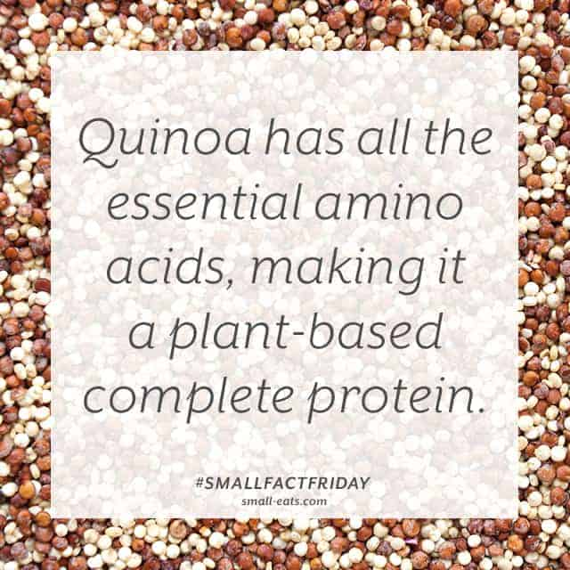 Quinoa has all the essential amino acids, making it a plant-based complete protein. #smallfactfriday