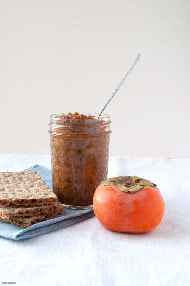Spread some of the season over your toast, crackers or swirl in your oatmeal with this Chai Spiced Persimmon Chia Jam.