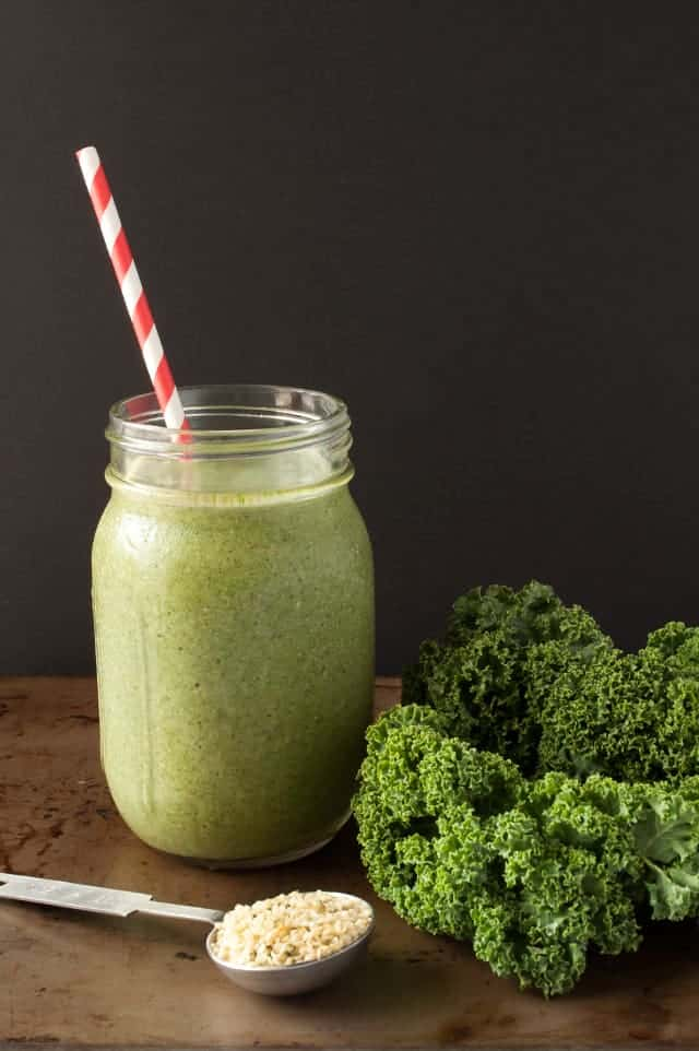 Take the power back from your mornings with a healthy green smoothie prepped the night before. | The Make Ahead Green Smoothie from small-eats.com