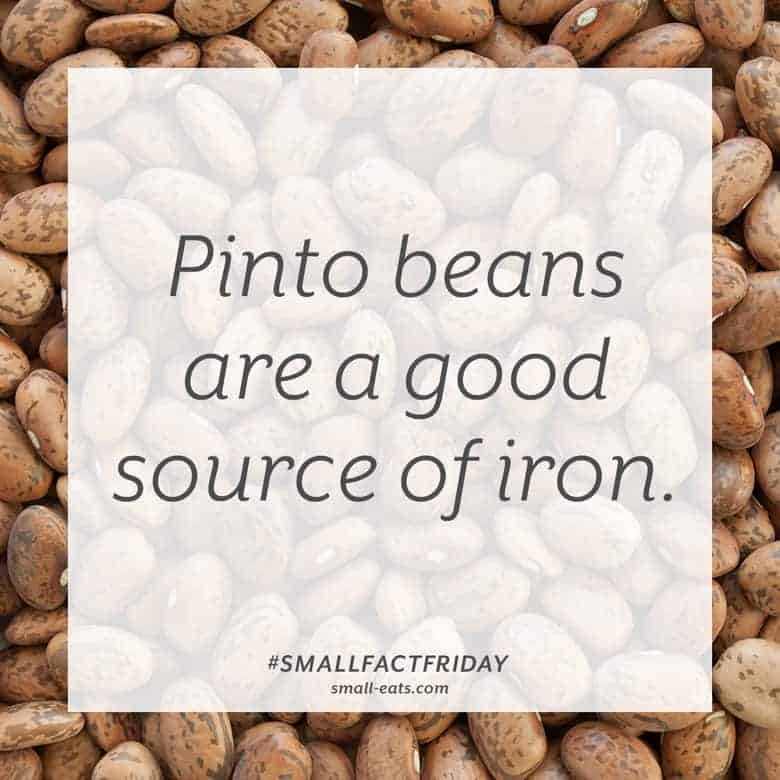 Pinto beans are a good source of iron. #smallfactfriday