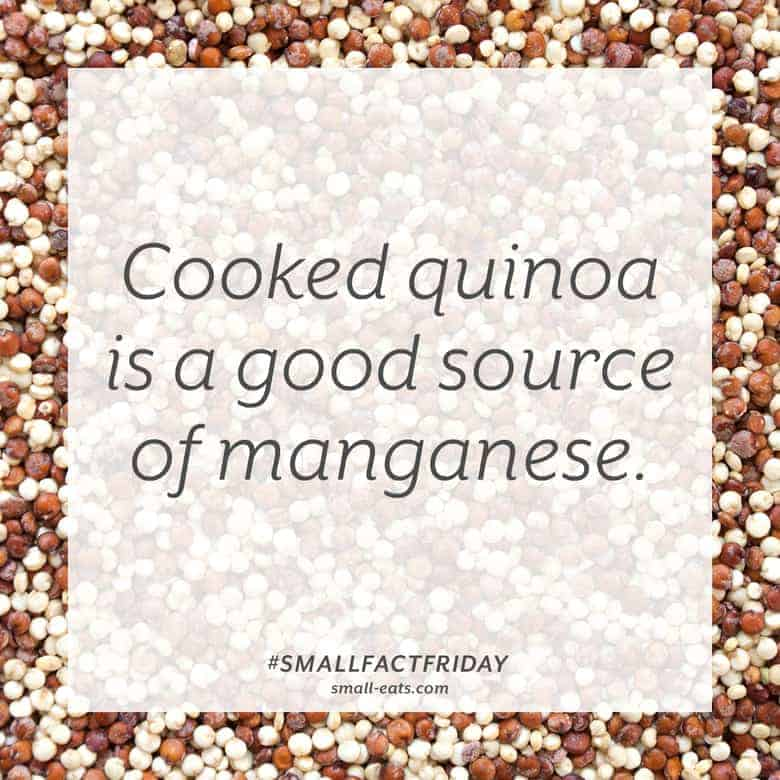 Cooked quinoa is a good source of manganese. #smallfactfriday