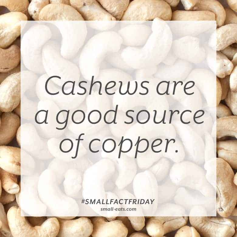Cashews are a good source of copper. #smallfactfriday