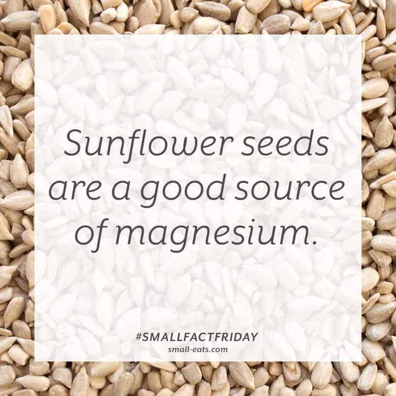 Sunflower seeds are a good source of magnesium. #smallfactfriday