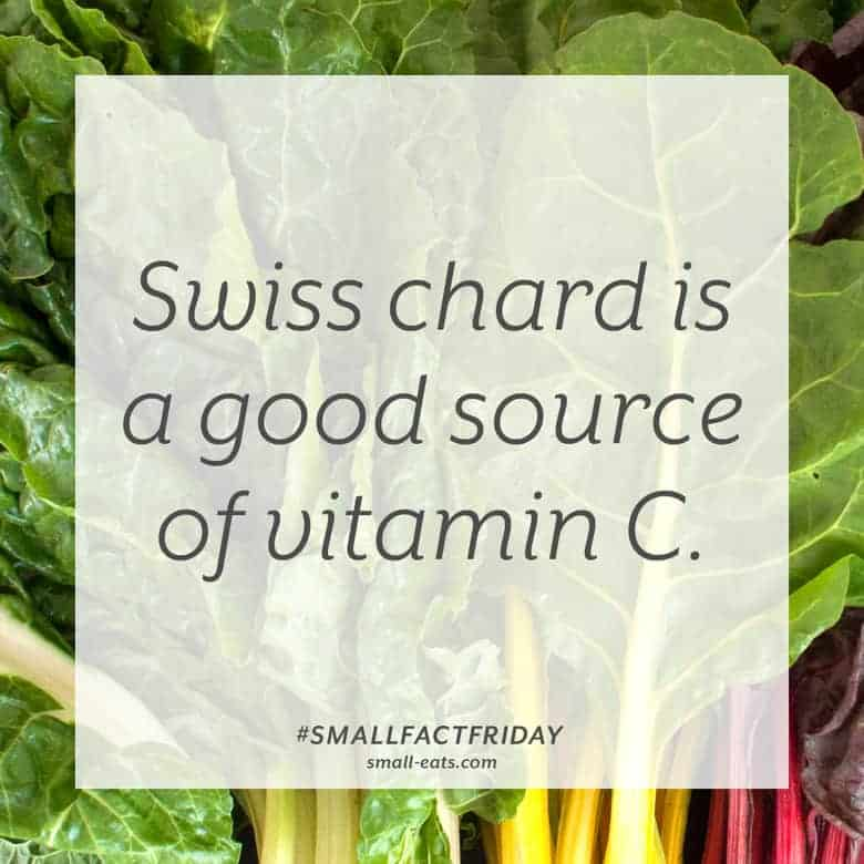 Swiss Chard is a good source of vitamin C. #smallfactfriday