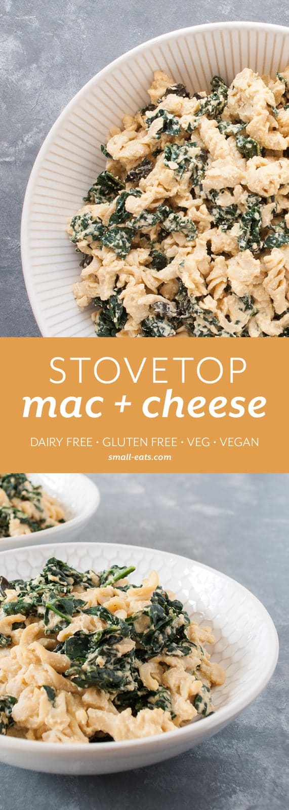 Enjoy mac and cheese again, no matter if you can't eat dairy or gluten. | Stovetop Mac and Cheese (Gluten and Dairy Free) from small-eats.com