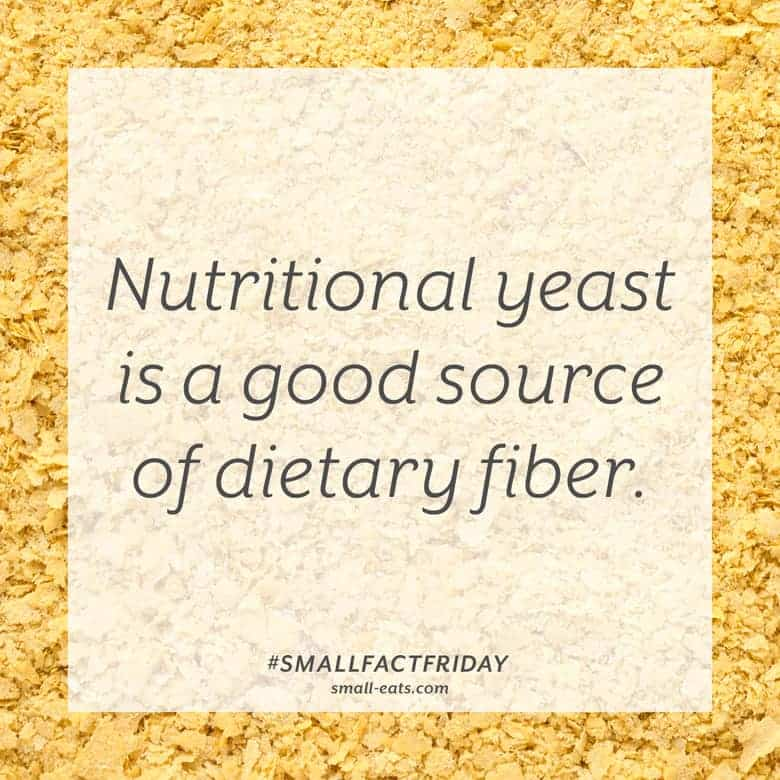 Nutritional yeast is a good source of fiber. #smallfactfriday