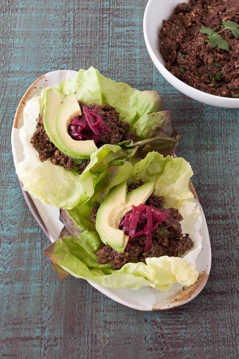 Make a simple taco meat that works for meat eaters and vegetarians alike. | Vegan Taco Nut Meat from small-eats.com