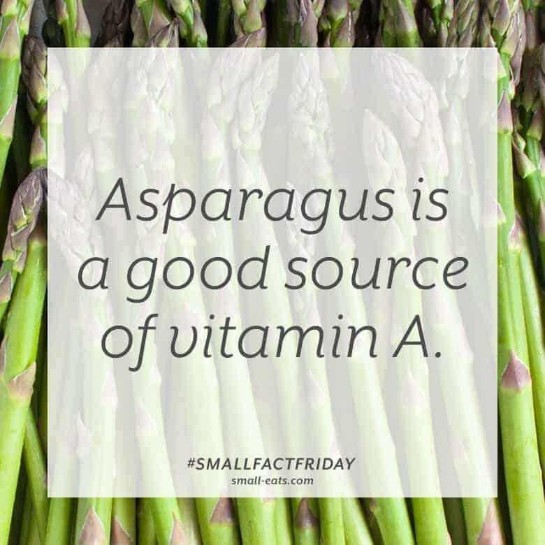 Asparagus is a good source of vitamin A. #smallfactfriday