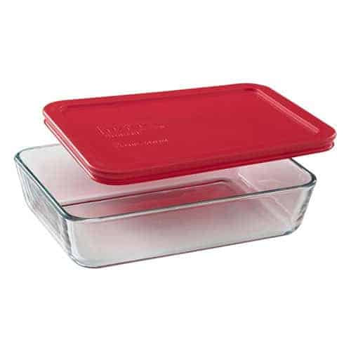 Pyrex Rectangle Food Containers, 3 C