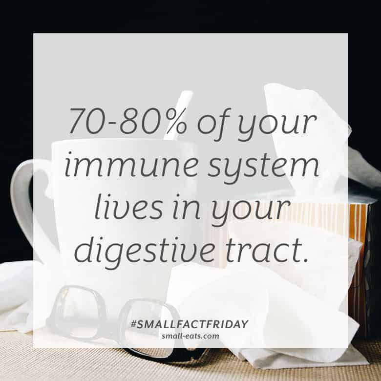 70-80% of your immune system lives in your digestive tract. #smallfactfriday