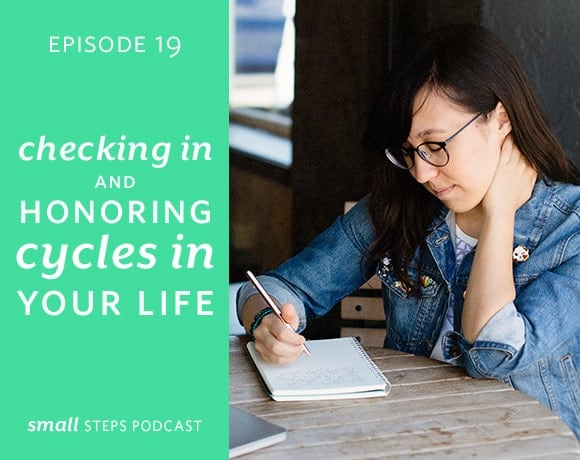 Small Steps Podcast #19: Checking In and Honoring Cycles in Your Life from small-eats.com