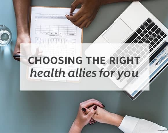 Things to consider when you're looking for assistance with your health and wellness goals. | Choosing the Right Allies for You from small-eats.com