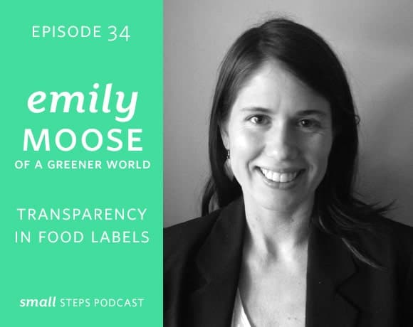 Small Steps Podcast #34: Transparency in Food Labels with Emily Moose of A Greener World from small-eats.com