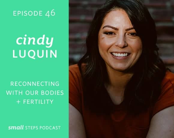 Small Steps Podcast #46: Reconnecting with Our Bodies and Fertility with Cindy Luquin from small-eats.com